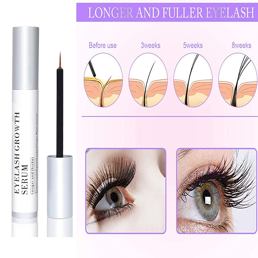 MAMaiuh Natural Eyelash Growth Serum Lash Boost Growth Serum Lash Eyebrow Enhancer Growth Serum For Eyelash and Brow Growth Treatment For Lashes -Hypoallergenic (A)