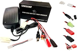 Szwisechip RC Battery Charger for 3.6V-10.8V NiMH/NiCd Battery Packs Hobbies Airsoft Batteries, RC Car, RC Truck, Air Gun,RC Airplanes , Compact with Standard /Mini Tamiya, JST, T Plug, JR FUTABA...