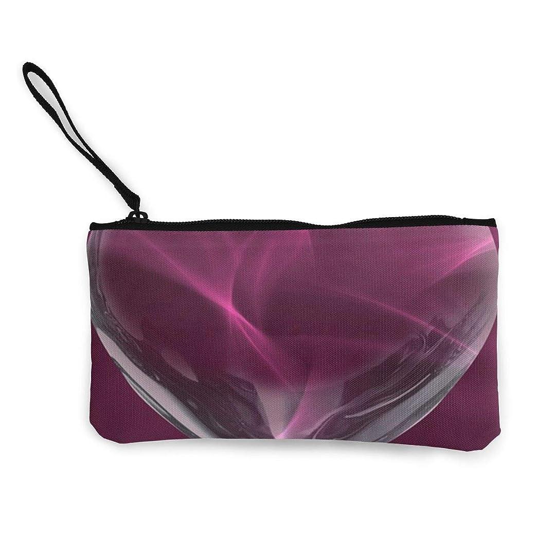 浪費薄いです花瓶ErmiCo レディース 小銭入れ キャンバス財布 心 愛 バレンタインデー 小遣い財布 財布 鍵 小物 充電器 収納 長財布 ファスナー付き 22×12cm
