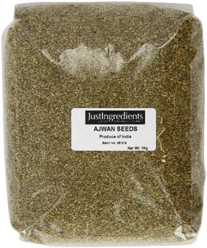 JustIngredients Essential Ajowan-Samen, Ajwain Seeds, 1er Pack (1 x 1 kg)