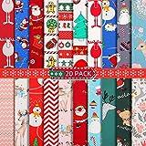20 Stück 25,4 x cm Weihnachten Baumwollstoff Mehrfarbig