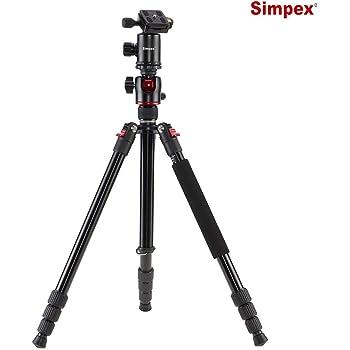 Simpex Professional Aluminium Tripod 540-TM Tripod Cum Monopod with Multipurpose Head for Low Level Shooting, Panning for All DSLR Camera