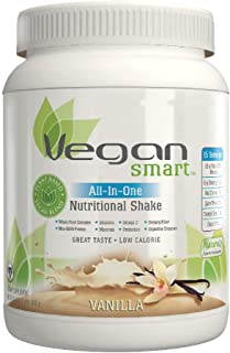 Vegansmart Plant Based Vegan Protein Powder by Naturade, All-In-One Nutritional Shake - Vanilla 22.8 Ounce