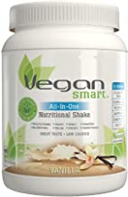 Vegansmart Plant Based Vegan Protein Powder by Naturade, All-In-One Nutritional Shake - Vanilla 22.75 Ounce