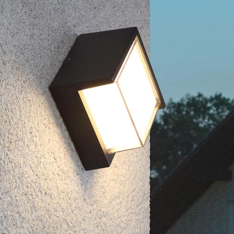 Branddb Neue Hoteltechnik Lichter LED Wandleuchte Auenwandleuchte wasserdicht im Freien modernen minimalistischen Hotel Gangbeleuchtung Abmessungen  160  160  100mm (mm) @ 10W warmweies Licht
