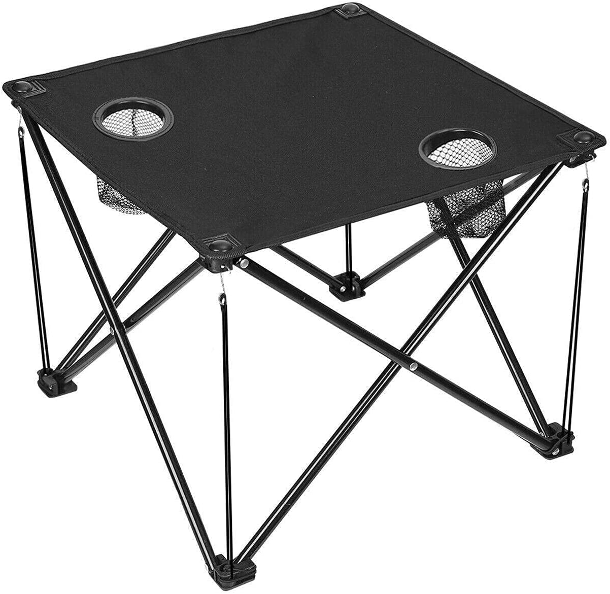 Foldable Camping Picnic Beach Max 64% OFF Table w Bag Cup I Carrying Holders Manufacturer regenerated product