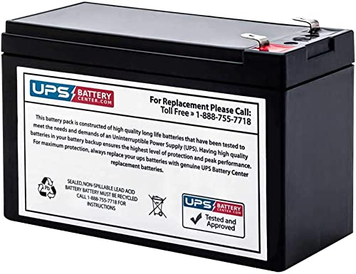 UPSBatteryCenter® Compatible Replacement Battery for APC Back-UPS ES 550-12V 9Ah