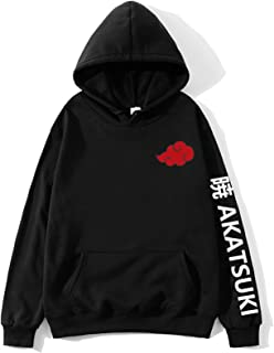 Men's Hoodie Pullover Pattern with Naruto Uchiha Sasuke 3D Print Design Kangaroo Pocket Long Sleeve Sweater Cosplay Costum...