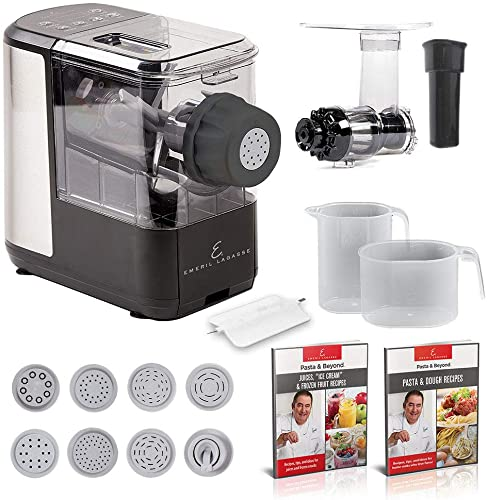 2021 EMERIL LAGASSE Pasta & 2021 Beyond, Automatic Pasta and Noodle Maker with Slow new arrival Juicer - 8 Pasta Shaping Discs Black online