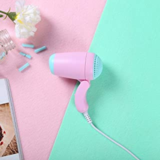 Secador de pelo plegable del dormitorio del estudiante de la mini potencia, rosa
