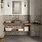 (Confezione 10 Pezzi) Adesivi per Piastrelle Formato 20x20 cm - Made in Italy - PS00151 Ad...