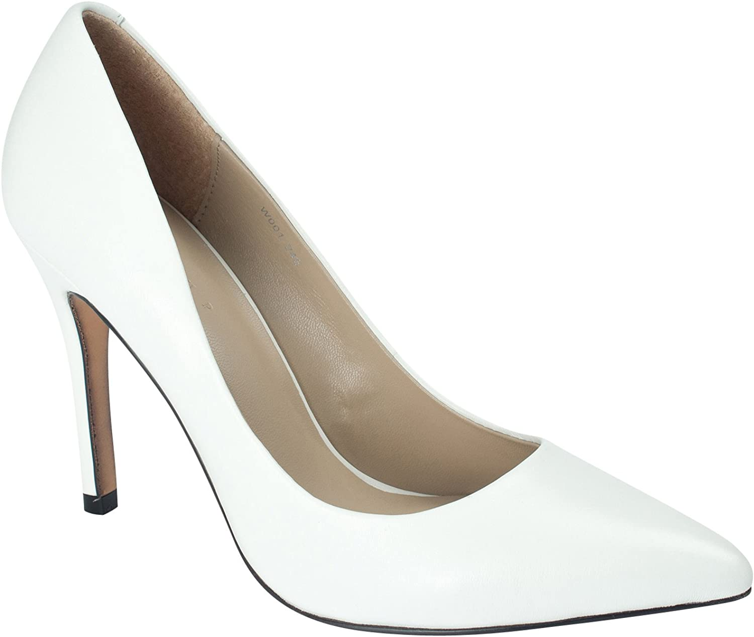 AnnaKastle 100mm Stiletto Heel Womens Genuine Leather Pointy Toe Pumps Dress shoes