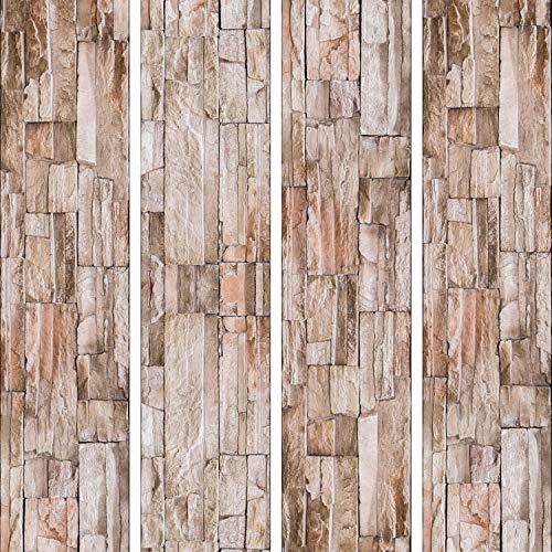 murando - PURO TAPETE - Realistische Steinoptik Tapete ohne Rapport und Versatz 10m Vlies Tapetenrolle Wandtapete modern design Fototapete - ! Steine f-A-0208-j-b
