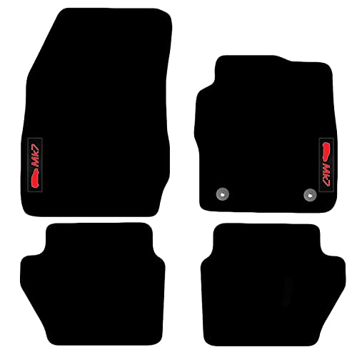 TAILORED CAR MATS BLACK CARPET WITH RED TRIM FORD ECO-SPORT 2014