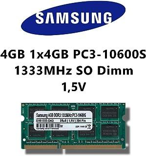 Samsung - Módulo de memoria RAM DDR3 SO-DIMM (4GB, 1333MHz, PC3 10600S, baja tensión) para portátil