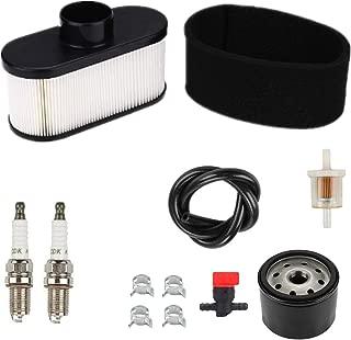 Euros 11013-7047 Air Filter + 49065-7007 Oil Filter Fuel Filter Tune Up Kit Fit for Kawasaki FR651V FR691V FR730V FS481V FS541V FS600V FS651V FS691V FS730V FX600V 4-Cycle Engine