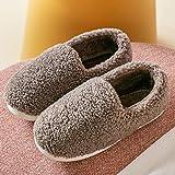 Nwarmsouth Slipper Ultraligero cómodo y Antideslizante,Par de Pantuflas Calientes, Felpa Zapatos de algodón Antideslizantes-marrón_42-43,Calzado sin Cordones para Interiores y Exteriores