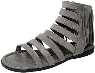 Womens Pisa Gladiator Sandal, Grey Suede, Size 10