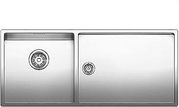 BLANCO CLARON 6 S-IF Acero inoxidable, 2 senos, 340 x 400 mm, 19 cm, 180 x 400 mm, 13 cm Fregadero
