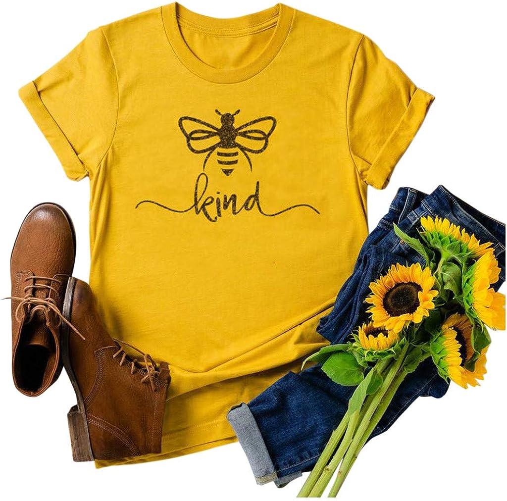 Short Sleeve Shirts for Women,Casual Sunflower Animal Printed Crewneck Short Sleeve Tops Shirts Blouse