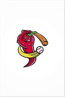 Noir Gallery Red Chili Pepper Baseball Mascot 5