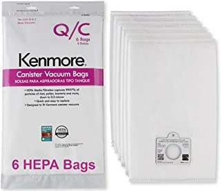 ... Sears Style Q/C Bags for Canister Vacuum Cleaners. Also Fits Kenmore 5055, 50557, 50558. Part Number 20-53292. Package of 6 Premium HEPA Synthetic Bags.
