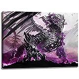 Leuchtender Drache Motiv auf Leinwand im Format: 80x60 cm. Hochwertiger Kunstdruck als Wandbild. Billiger als ein Ölbild! ACHTUNG KEIN Poster oder Plakat!