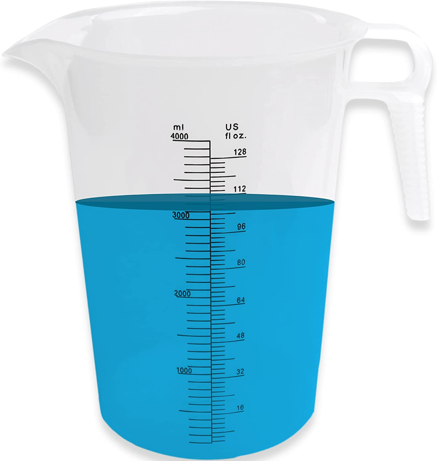 64oz Measuring Pitcher - Measuring Container - Great Pool Measuring Cup For Chemicals Also Used For Motor Oil Measuring, Lawn Measuring, Lye Container - Measuring Cup Plastic