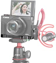 UURig R016 C-G7X Mark III Vlog Camera Cold Shoe Extension Microphone Side Mount for Canon G7X Mark III Camera, 1/4