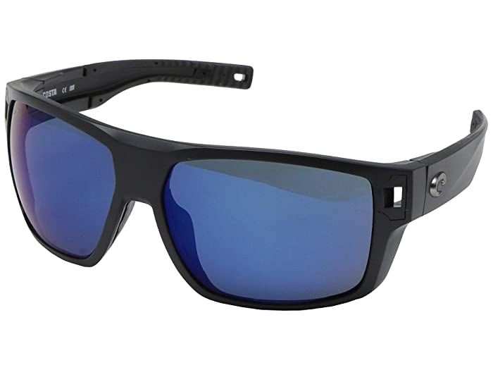 Costa  Diego (Matte Black Frame/Blue Mirror Lens 580P) Fashion Sunglasses