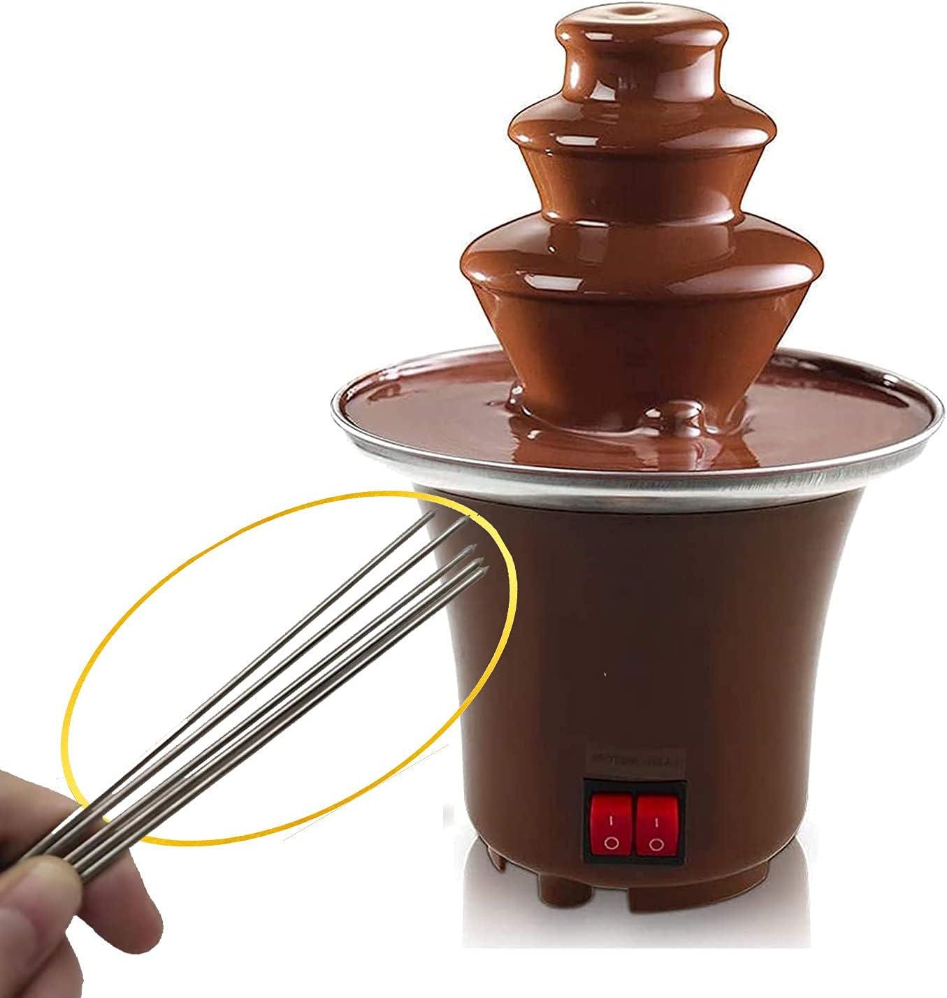 SK CASA Chocolate Fondue Fountain - Luxury Mac 3 Electric Tiers Max 73% OFF Melting