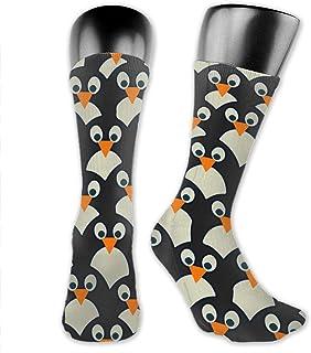 yting, Calcetines de vestir de equipo suave con estampado de cara de pingüino para niños niñas, cosplay, fútbol, esquí