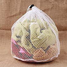 S-XL Large Drawstring Bra Underwear Laundry Bags Household Cleaning Washing Machine mesh Holder Bags White Color Drop Ship...