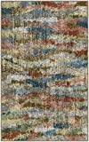 Brumlow Mills Rustic Abstract Bohemian Home Indoor Area Rug with Contemporary Colorful Earth Tone Print Pattern for Living Room Decor, Dining Room, Kitchen Rug, or Bedroom, 2'6' x 3'10', Earthtones