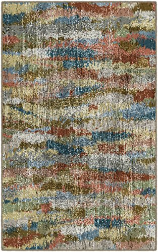 "Brumlow Mills Rustic Earthtones Vintage Abstract Area Rug, 3'4"" x 5',"