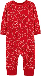 Carter's Unisex Baby Valentine's Day Jumpsuit (9 Months, Red Hearts)
