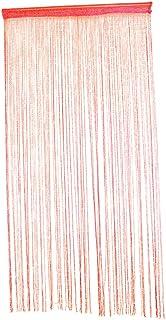 Fenteer Cortina Separadora Divisora de Habitación Decorativa 100x200cm - Rojo Brillante