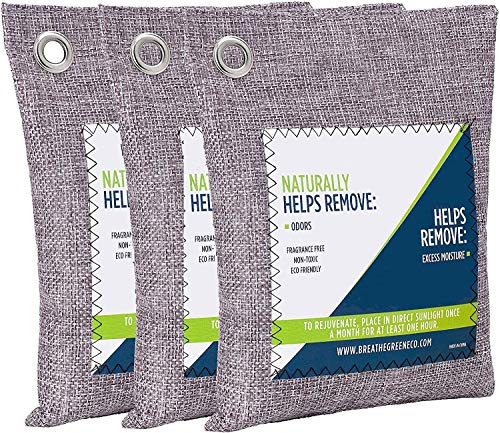 Review Of Air Purifying Bags Activated Bamboo Charcoal Bags Odor Eliminator Bag for Home, Car, Close...