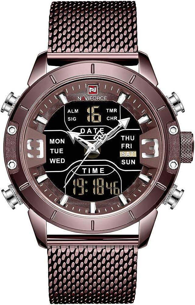 NAVIFORCE Digital Watch Men Sacramento Mall Waterproof Max 70% OFF Sports Stainless Watches