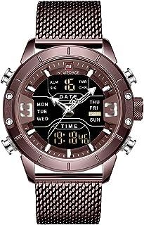 NAVIFORCE Digital Watch Men Waterproof Sports Watches Stainless Steel Military Quartz Clock Wristwatch