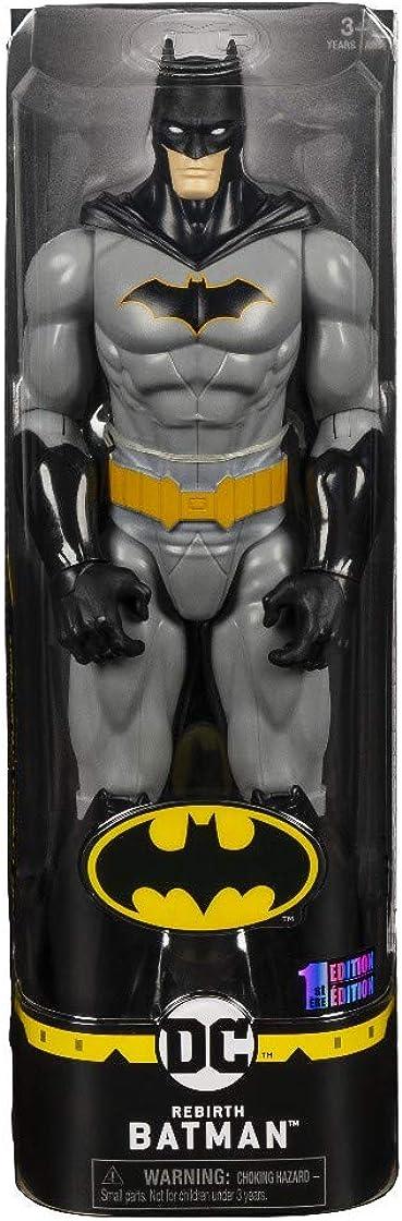 batman dc comics personaggio da 30 cm articolato - versione grigio/nero dai 3 anni - 6056680