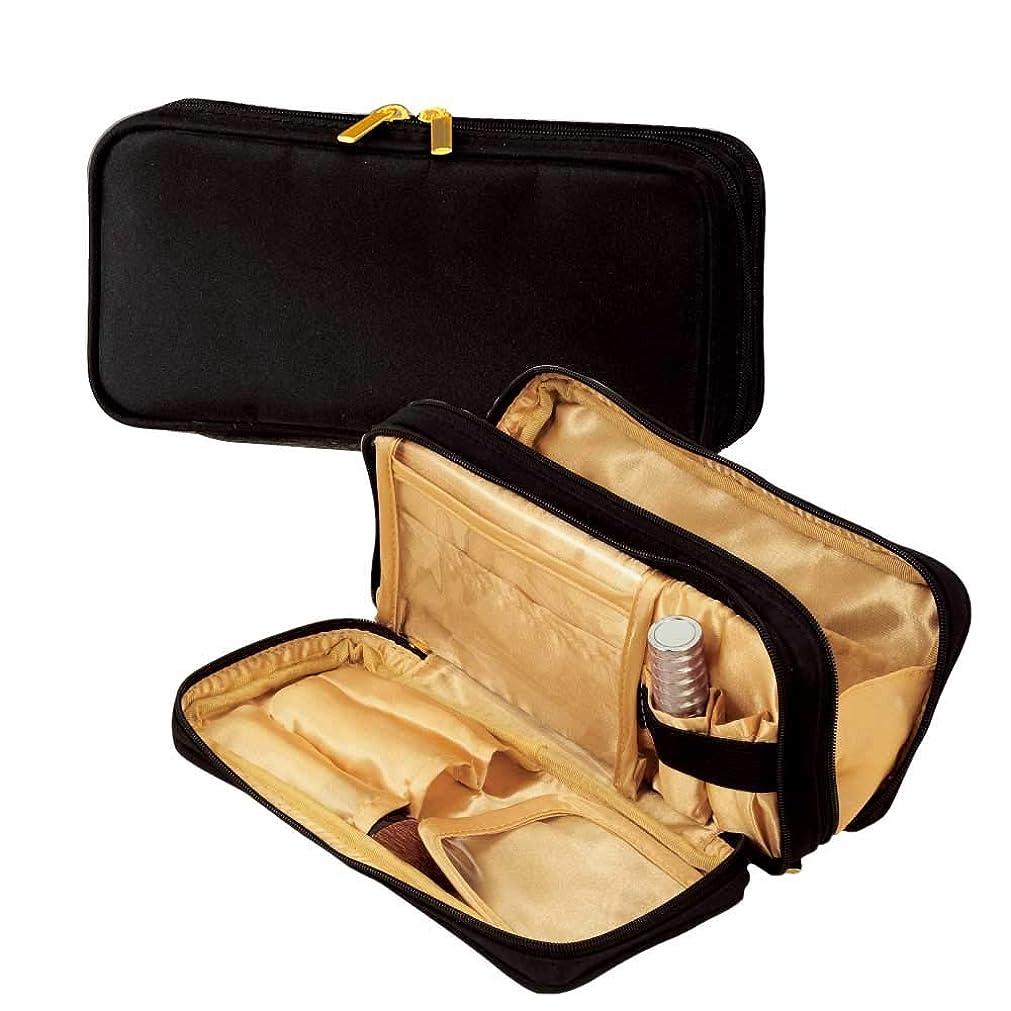 空港インキュバスけがをするfunctional?マルチポーチ(gold)ブラシ入れ付きの機能的な化粧ポーチ