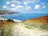 Leinwandbild 90 x 70 cm: Strandweg durch den Weizen bei