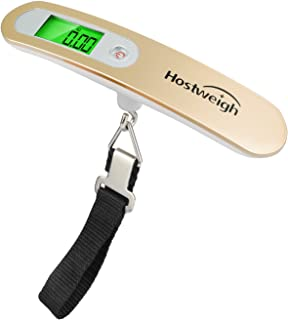 Digital Luggage Hanging Scale Portable Travel (110lb/50kg) with Battery (Champagne Gold)