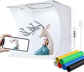 YOTTO 23cm Caja de Estudio Fotográfico Caja de Fotografia Portátil Plegable Photo Studio con Color y Brillo Ajustable 80 L...