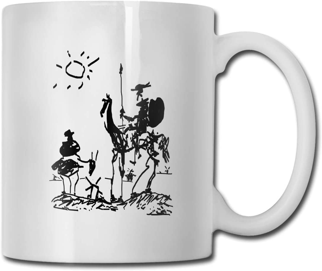 Picasso Don Quixote Portable Classic Ceramic 67% OFF of fixed price Spring new work Trav Cup Mug Coffee