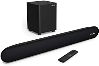 Sound bar with Wireless Subwoofer, BYL Soundbar 140W 2.1 Channel Speaker for TV Wired..