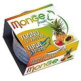 Monge - Comida para Gatos, atún con Fruta, 80 Gramos, 1 Lata