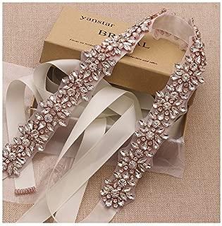 Handmade Beads Wedding Belt Sashes Bridal Belt Sash With Rhinestones …