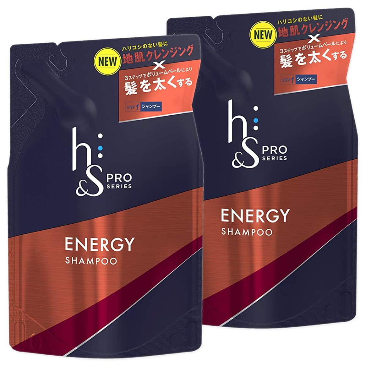 構造医療過誤同じ【まとめ買い】 h&s for men シャンプー PRO Series エナジー 詰め替え 300mL×2個